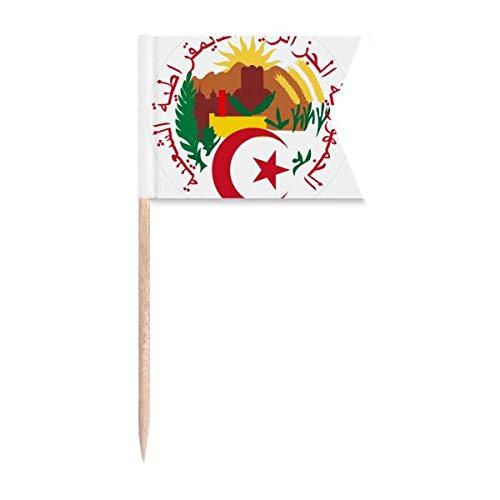 Beauty Gift Algerien Nationales Emblem Markierung für die Kennzeichnung von Zahnstocher-Flaggen