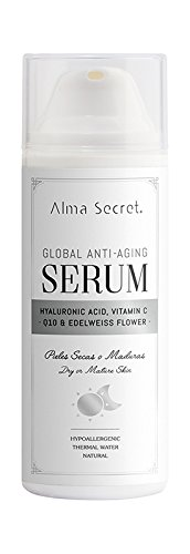 Alma Secret Sérum Antiedad Global con Q10, Hialurónico, Vitamina C & Edelweiss - 50 ml