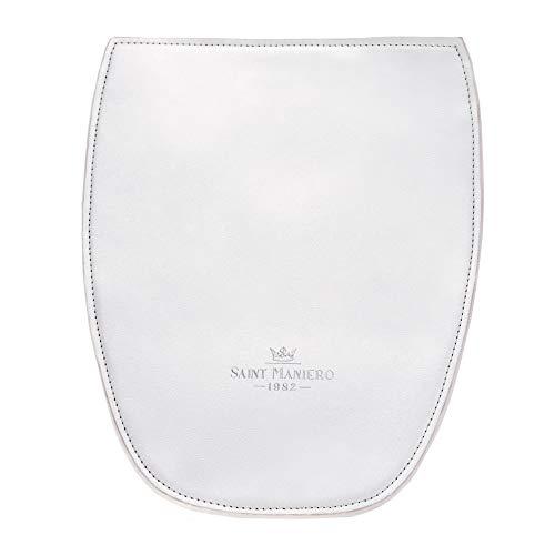 Saint Maniero Flap für Design Damen Rucksack für Alltag, Uni und Business – viel Stauraum (Laptop, Leitzordner, usw) – modische Farben – wasserabweisendes Material (Silber)