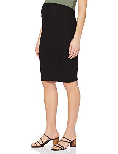 MAMALICIOUS MLLUNA Jersey PINTUC Skirt O. A. Falda, Negro, M para Mujer