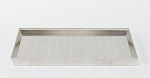 Pentole Agnelli COAL49/3F35 Teglia Rettangolare Forata, Diametro Foro 6 mm, Lega Alluminio 3003, 35x38 cm, Argento