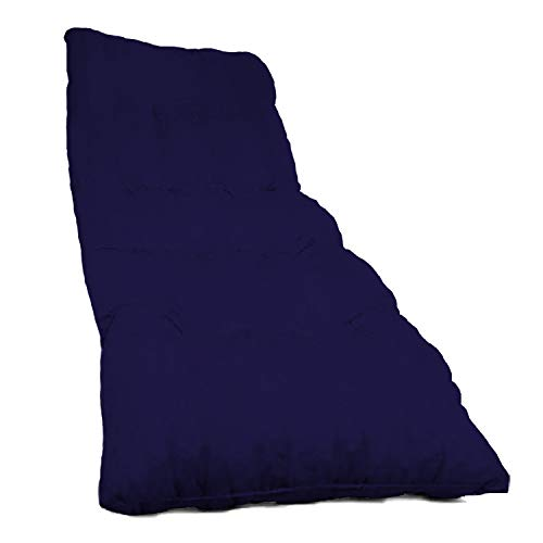 Dabuty Online, S.L. Pack de 2 Cojines de Tumbona Acolchada de Rayas 180 x 50 X 5 cm Colchón Texturas Rojo, Verde, Amarillo, Azul. Colchoneta Tumbona (Liso Azul Oscuro)