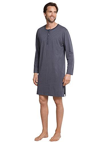 Schiesser Herren Nachthemd lang Pyjamaoberteil, Grau (Anthrazit 203), 52