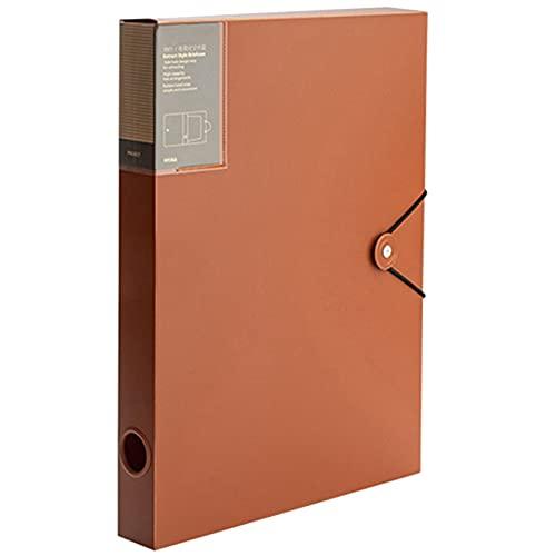 RWEAONT Cuadro de Archivo de Datos Organización Delgado Recorte PÁGINAS Ancho de Archivo Ancho de la Carpeta de 40 mm Almacenamiento de Archivos (Color : As Shown)