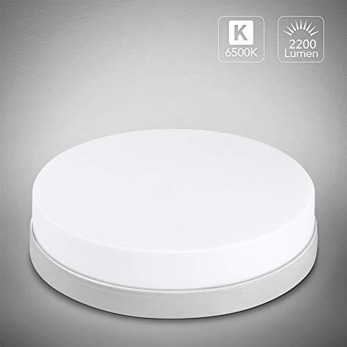fourseasons Deckenleuchte Led Badezimmer Lampe 24W 2200LM/6000K Deckenlampe Küche Dadlampe Decke Deckenbeleuchtung Badleuchte