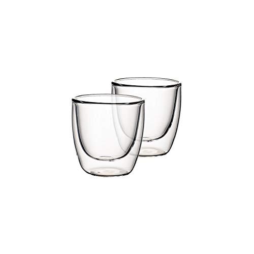 Villeroy & Boch Artesano Hot & Cold Beverages Becher S, 2er-Set, 110 ml, Borosilikatglas, Klar