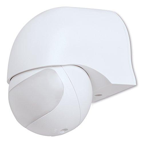 sonero IMS010 Infrarot-Bewegungsmelder - Innen- / Auߟenmontage, Schutzklasse: IP44, 180° / 12m Arbeitsfeld, weiߟ (1 Stück)