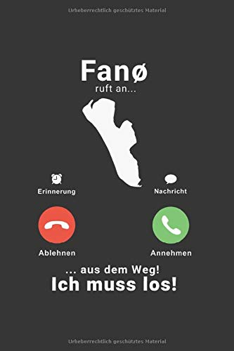 Fanö Dänemark Notizbuch: Fanø Fanö Anruf Telefon Dänemark Reise / 6x9 Zoll / 120 karierte Seiten
