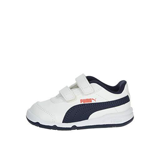 PUMA STEPFLEEX, Zapatillas Unisex bebé, Blanco Mar, 21 EU