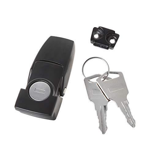 YUYUE21 (1pc Hebilla de Bloqueo Negro con Llave de Maleta Cerradura de la Puerta candado de Huella Digital Inteligente