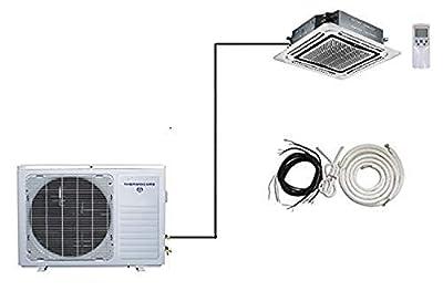 Thermocore T321S-H212-Cassette Single Zone 1 Ton Energy Star Mini Splits Air Conditioner, Large, White