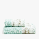 COTTON TOWEL WITH EMBROIDERED LINEN BORDER - TOWELS - BATHROOM | Zara Home United States of America