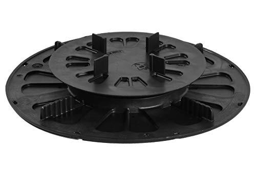 Piédestal réglable de qualité supérieure pour dalles de terrasse, rangement pour assiettes, rangement pour terrasse, pied de support, support de terrasse, base pivotante, support de plaque, pied de support, réglage en hauteur de 1 pièce 19-27 mm