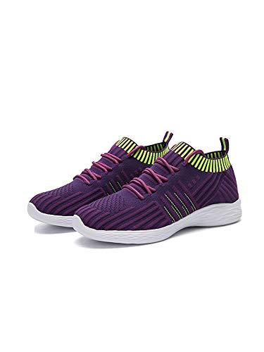 Zapatillas de correr para mujer, transpirables, calcetines, zapatillas de entrenamiento, para exteriores, atletismo, informales, para correr, color, talla 40 EU