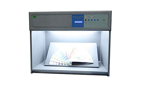 TECHTONGDA Color Matching Cabinet Color Assessment Box Color Calibration Chart with 4 Light Sources D65 TL84 UV F