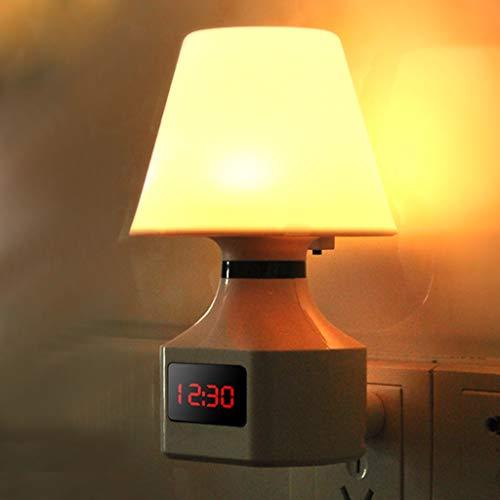 TXTC digitale klok, nachtlampje, stopcontact, lichtuitgang, met schakelaar, of kinderslaapkamer, keuken entree