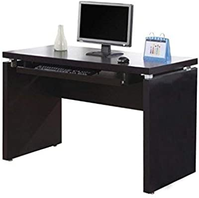"""Monarch Specialties Pull-Out Keyboard Tray Computer Desk - Home & Office Computer Desk 48""""L (Cappuccino)"""