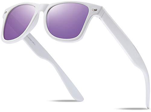 Hatstar Gafas de sol retro nerd unisex con bisagra de resorte para hombre y mujer, UV400 CAT 3 CE