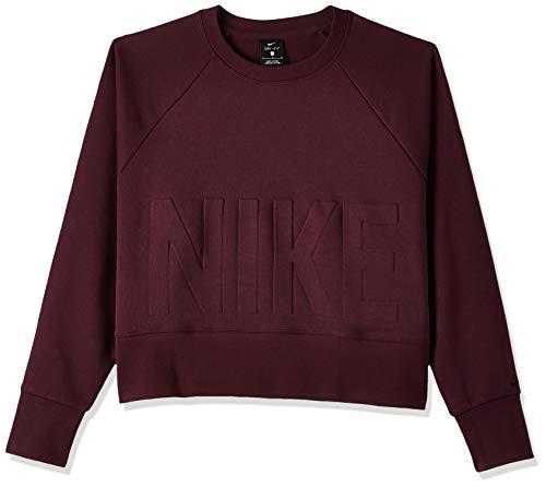 Nike Damen Cropped Sweatshirt, Burgundy Crush/Black, L-44/46