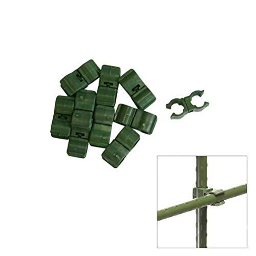 Xclou Garden Multifunktionsclip, 10er Set, Pflanzenbinder, Pflanzenklammer, Pflanzenhalter, grün, 3x1x1.5 cm, 360238