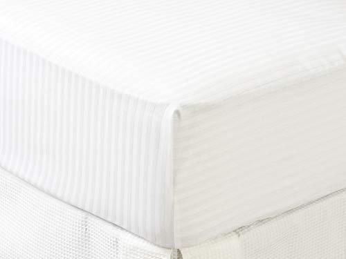 Tex – Proteggi materasso in cotone per letto da 180 cm, colore: bianco