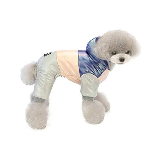 Wenhe Ropa para mascotas, abrigo de algodón cálido, arco iris de 4 patas, para perros y gatos pequeños y medianos