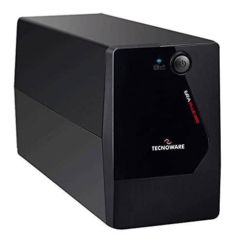 Tecnoware Ups Era Plus 1100 - Gruppo di Continuità - Uscite Schuko - Autonomia fino a 17min PC o 60min Modem - Stabilizzazione AVR - USB con Software TecnoManager per Gestione UPS - Potenza 1100 VA