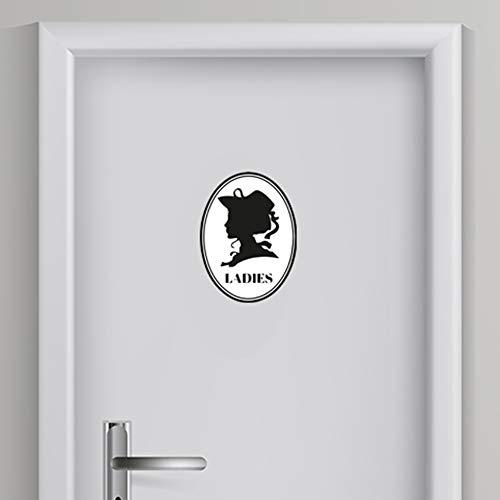 Toilet Sticker Vrouw 3 | Toilet aanduiding | WC Sticker | WC deur sticker | Voordelig & Mooie stickers!