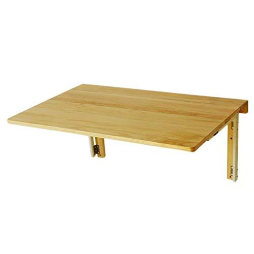 ZND Einfache Idee Wand-Tisch Tragbare Faltbare Computer Schreibtisch Küchenarbeitsplatte Badezimmer, Kiefer, Dicke 2 cm (Farbe: Holz Farbe, Größe: 80 X 50 cm), Holzfarbe, 80 x 50 cm