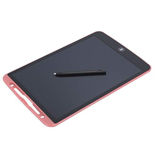 SANON Tablero de Escritura LCD de 12 Pulgadas Tablero de Dibujo de Escritura a Mano de Pizarra Electrónica de Energía Ligera (Rosa)