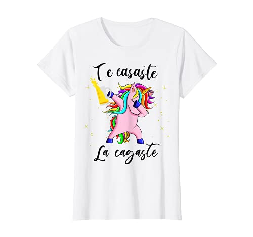 Mujer Disfraz despedida soltera unicornio Equipo Novia team bride Camiseta