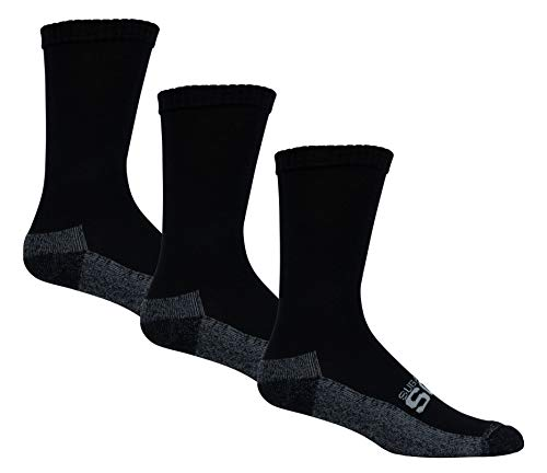 Cushioned Diabetic Socks for Men by Sugar Free Sox  Maximize Circulation amp Comfort  Mens Active Fit Sock Size 1013  Black Crew 3 Pack
