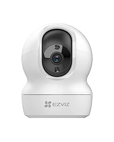 EZVIZ Telecamera Wi-Fi Interno 2K, Videocamera Sorveglianza Interno wifi 3MP per animali e bambini, Motorizzata a 360°, Audio a due vie, Funziona Alexa, Avvisi movimento, Visione notturna, Modello CP1