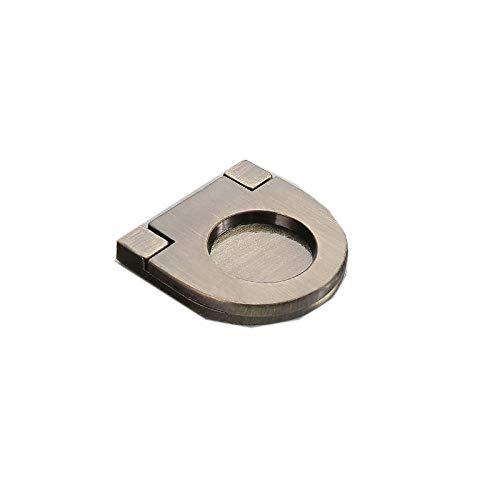 Kleiderschrank Schublade Zugknopf dunklen Griff modernen minimalistischen unsichtbaren Türgriff, 2035-grün Bronze/Trompete