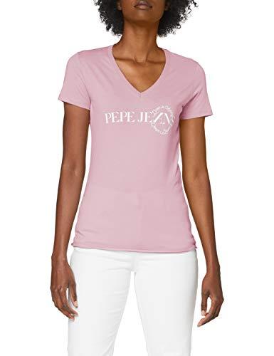 Pepe Jeans Agnes, T-shirt Femme, 411Malva, Small