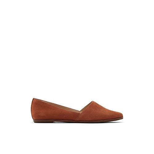 ALDO Women's Blanchette Slip-On Flat Loafer, Brown, 8