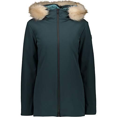 CMP Chaqueta con capucha Mid Eco para mujer, Petrolio, EU 38