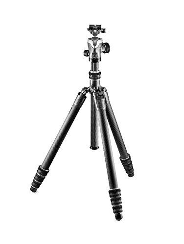 Gitzo GK2545T-82QD Traveler Stativ-Kit mit Profi-Kugelkopf (kompakt, faltbar und leicht, kurze Säule für Aufnahmen auf Bodenhöhe inklusive Serie 2 - 4 Segmente) carbon