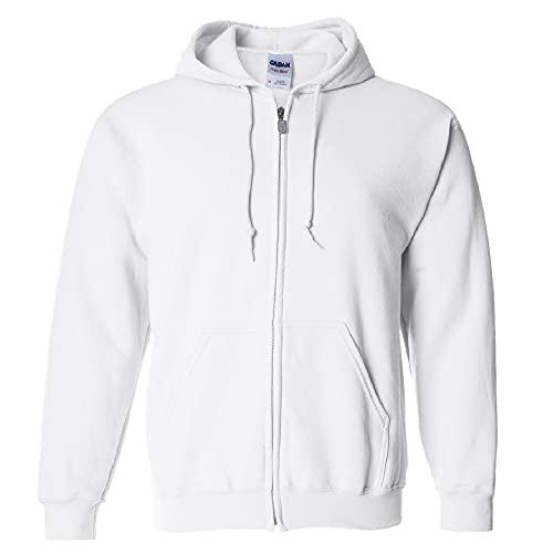 Gildan Heavy Blend Veste à capuche - Blanc - Medium