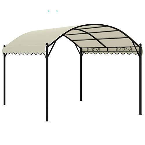 pedkit Gazebo Sunshade Shelter Canopy for Outdoor Picnic Dinners BBQs Fabric Cream