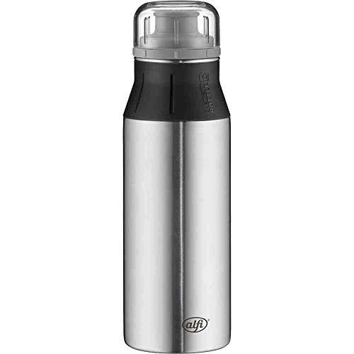 alfi Edelstahlflasche elementBottle Pure steel, Trinkflasche Edelstahl 600ml, auslaufsicher, spülmaschinenfest, 5357.209.060 BPA Frei, Flasche für Wasser, Saft, Tee, Softdrinks, toGo oder im Büro