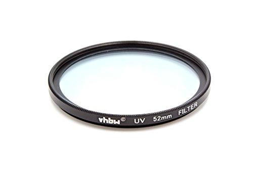 vhbw Universal UV Filter kompatibel mit Kamera Objektiven mit 52mm Filtergewinde - UV Schutzfilter, Schwarz