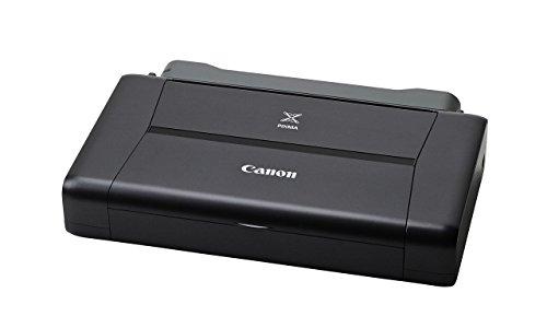 Canon PIXMA iP110 mobiler Drucker Tintenstrahl DIN A4 (9.600 x 2.400 dpi, WLAN, USB, PIXMA Cloud-Link, Apple AirPrint, mit Akku), schwarz