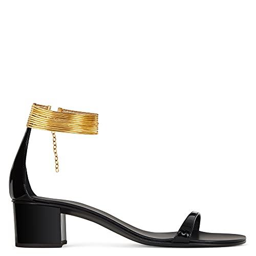 Giuseppe Zanotti Kay IT41 - Zapatos planos para mujer, color negro, Black, 38.5 EU