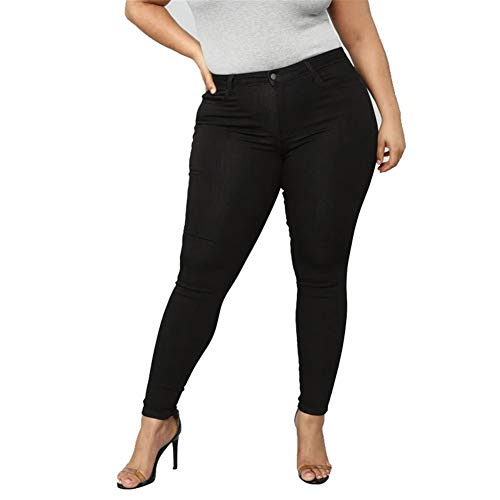 PerGrate Fashion High Waist Jeans Leggings,Super Large Pants High Elasticity Jeans for Woman Girl,White, Black, Dark Blue and Light Blue