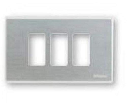 Bticino 503/3/X/F Placca Magic 3 Posti per Scatola Rettangolare Oxidal, Multicolore