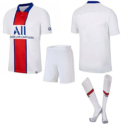 GJMQQ Paris Home/Away 20/21 Di Maria 11# Verratti 6# icardi18# Erwachsene und Kinder Trikot Set Fußball Trainingsbekleidung (Weiß)