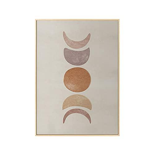 JJH Impresiones abstractas Arte de la Pared - Sol y Luna, Imágenes de Colgar Decorativas con Marco de Metal para Sala de Estar, Dormitorio, Mesa de Comedor, Oficina (Color : Moon-3, tamaño : 40x60cm)
