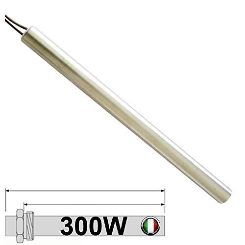 Easyricambi CANDELETTA Resistenza ACCENSIONE per Stufa A Pellet 300W Lunga 155MM; DIAMENTRO 10,2MM; per LA NORDICA EXTRAFLAME