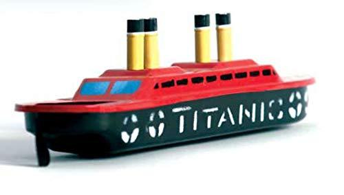 CAPRILO Juego Decorativo Infantil de Hojalata Barco Titanic